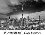 amazing view on dubai downtown... | Shutterstock . vector #1129525907