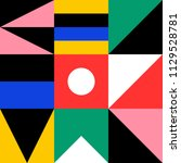 mural geometric backgrounds... | Shutterstock .eps vector #1129528781