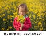 cute portrait little kid with... | Shutterstock . vector #1129538189