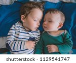 toddler and infant baby... | Shutterstock . vector #1129541747