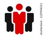 teamwork icon  staff ... | Shutterstock .eps vector #1129546211