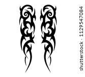 tribal pattern vector tattoo... | Shutterstock .eps vector #1129547084