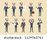 set of manager or businessman... | Shutterstock .eps vector #1129563761