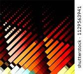 vintage halftone color texture... | Shutterstock .eps vector #1129563941