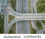 aerial view of bridge over...   Shutterstock . vector #1129564781