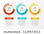 infographic design template.... | Shutterstock .eps vector #1129573511
