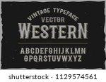 vector vintage label font.... | Shutterstock .eps vector #1129574561