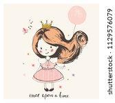 cartoon hand drawn vector... | Shutterstock .eps vector #1129576079