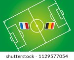 france vs belgium flags soccer... | Shutterstock .eps vector #1129577054