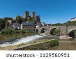 the castle of runkel and the... | Shutterstock . vector #1129580951