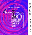 party poster for night club.... | Shutterstock .eps vector #1129590491