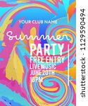 party poster for night club.... | Shutterstock .eps vector #1129590494