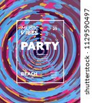 party poster for night club.... | Shutterstock .eps vector #1129590497
