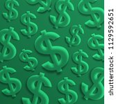 dollar signs. usa currency...   Shutterstock .eps vector #1129592651