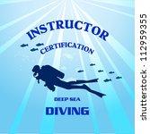 vector scuba divers  ... | Shutterstock .eps vector #112959355