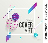 creative cover art with... | Shutterstock .eps vector #1129597937