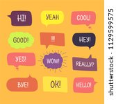 colored speech bubbles set in... | Shutterstock .eps vector #1129599575