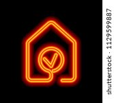 house with check mark icon....   Shutterstock .eps vector #1129599887