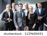 portrait of successful business ...   Shutterstock . vector #1129600451