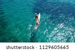 aerial photo of man practicing... | Shutterstock . vector #1129605665