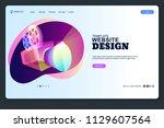 website design template.... | Shutterstock .eps vector #1129607564