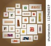 vector alphabets gallery | Shutterstock .eps vector #112960819