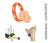 manipulation by hands cartoon... | Shutterstock .eps vector #1129612919