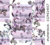 watercolor seamless pattern... | Shutterstock . vector #1129614017