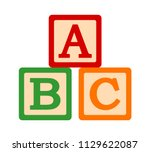 abc   abcs toy blocks or cubes... | Shutterstock .eps vector #1129622087