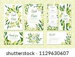 eucalyptus design. wedding... | Shutterstock .eps vector #1129630607