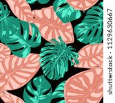tropical pattern. seamless...   Shutterstock .eps vector #1129630667