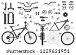 road bicycle parts and... | Shutterstock .eps vector #1129631951