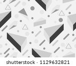 memphis seamless pattern.... | Shutterstock .eps vector #1129632821