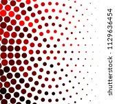 vintage halftone color dots... | Shutterstock .eps vector #1129636454