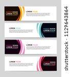 new vector abstract design web... | Shutterstock .eps vector #1129643864