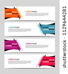 new vector abstract design web... | Shutterstock .eps vector #1129644281
