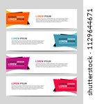 new vector abstract design web... | Shutterstock .eps vector #1129644671