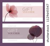 gift card with floral... | Shutterstock .eps vector #1129645547