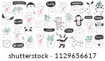 vector cartoon collection of... | Shutterstock .eps vector #1129656617