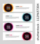 new vector abstract design web... | Shutterstock .eps vector #1129657304