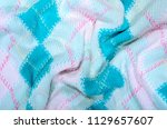 close up on crumpled knit...   Shutterstock . vector #1129657607