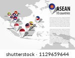 asean   association of... | Shutterstock .eps vector #1129659644