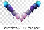 vibrant realistic helium vector ... | Shutterstock .eps vector #1129661204