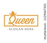 queen typography logo design... | Shutterstock .eps vector #1129667201