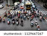 ratchaprasong intersection ... | Shutterstock . vector #1129667267