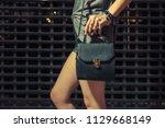stylish night fashion portrait... | Shutterstock . vector #1129668149