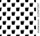 ice crockery icon in pattern... | Shutterstock .eps vector #1129671587
