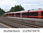 nsb train at the platform... | Shutterstock . vector #1129673474