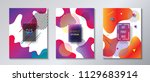fluid vibrant gradient color... | Shutterstock .eps vector #1129683914