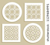 templates for laser cutting ...   Shutterstock .eps vector #1129684991
